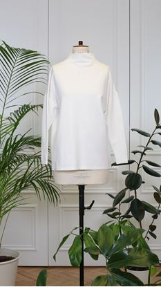 Picture of Cream basic long-sleeve turtleneck top