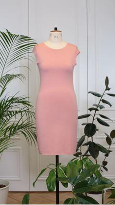 Obrázek Basic úpletové šaty starorůžové