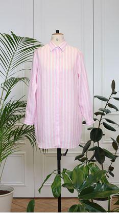 Obrázek Košile bílo-růžová