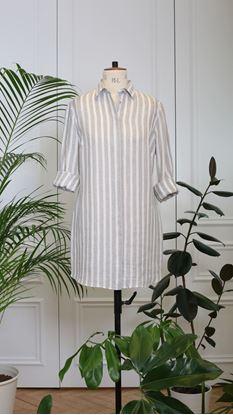 Obrázek Košile bílo-šedá