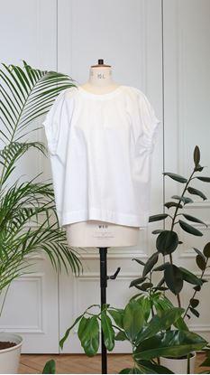 Obrázek Halenka s řasenými průramky bílá