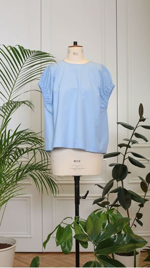 Picture of Blue top with application