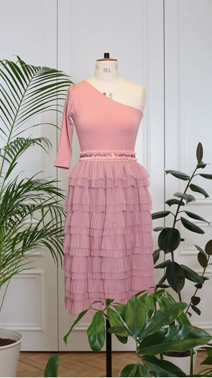 Obrázek z Tylová sukně starorůžová