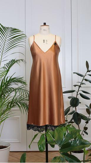 Obrázek z Košilka s krajkou bronzová