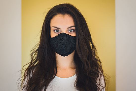 Picture of Fancy face mask black lace