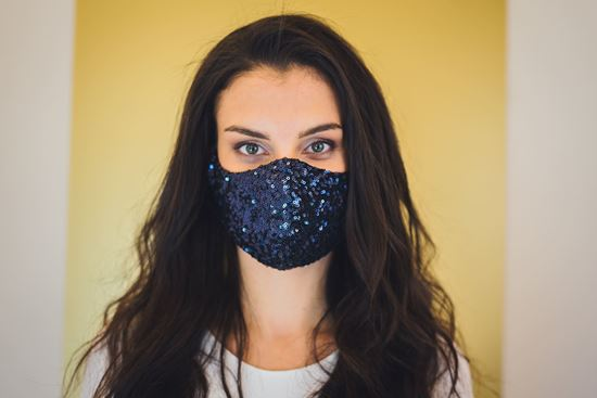 Picture of Fancy face mask blue