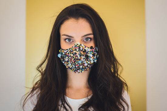 Picture of Fancy face mask colorful