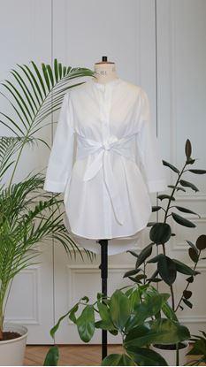Obrázek Košile s vazačkou bílá