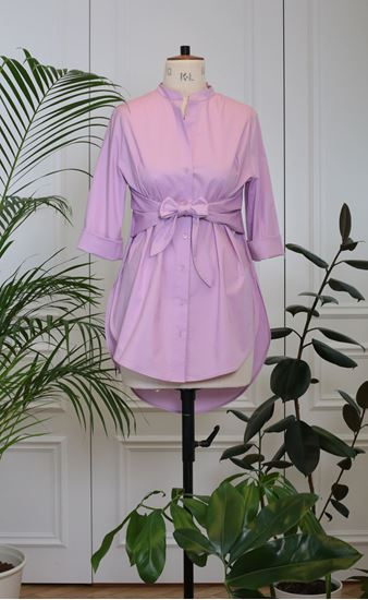 Picture of Lila shirt with ribbon