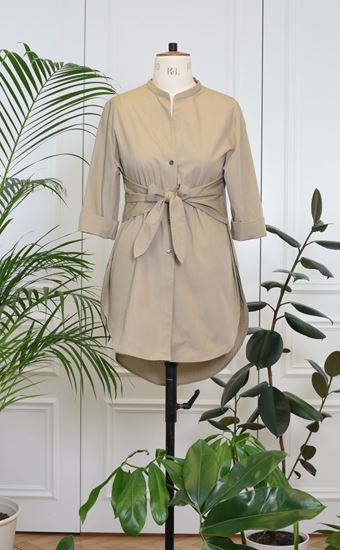 Picture of Khaki shirt with ribbon