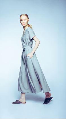 Obrázek Lněné zavinovací šaty