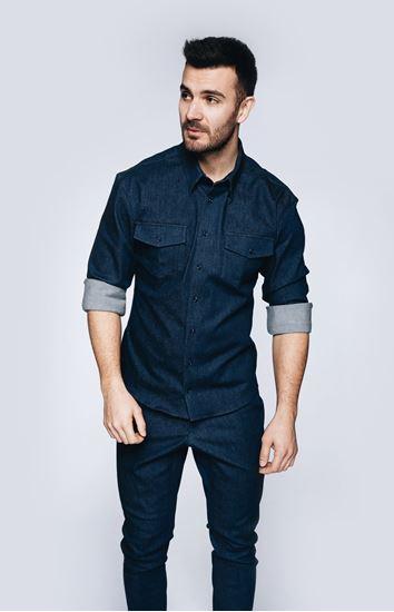 Picture of Elastic denim shirt